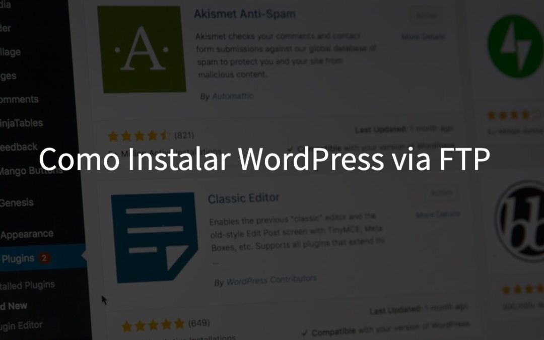 Como instalar o WordPress via FTP